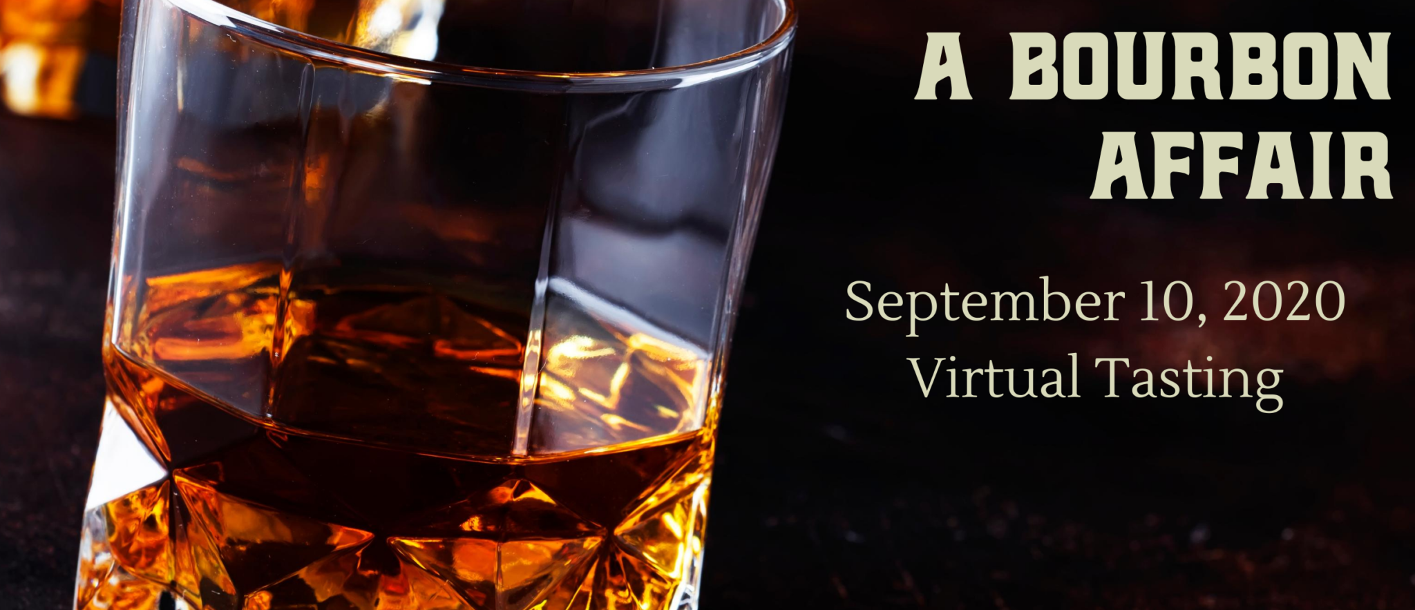 Graphic with bourbon glass and September 10 date